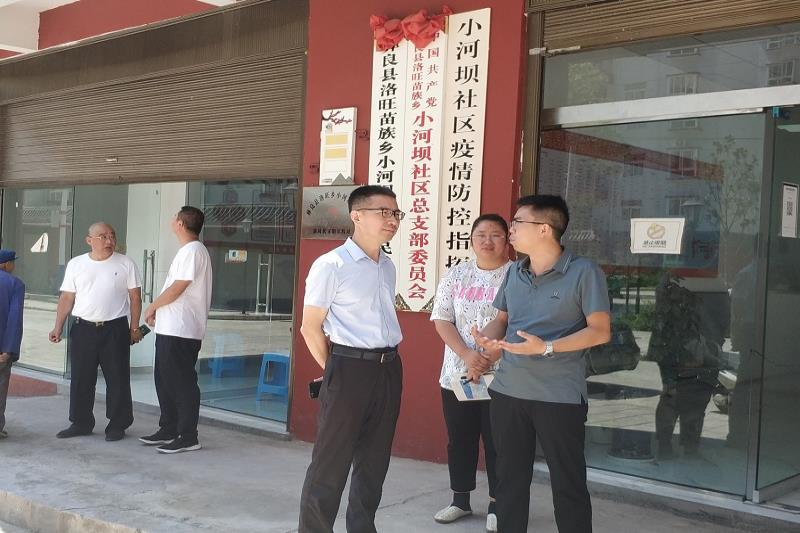 """李安欣到洛旺乡小河坝社区开展""""我为群众办实事""""活动"""